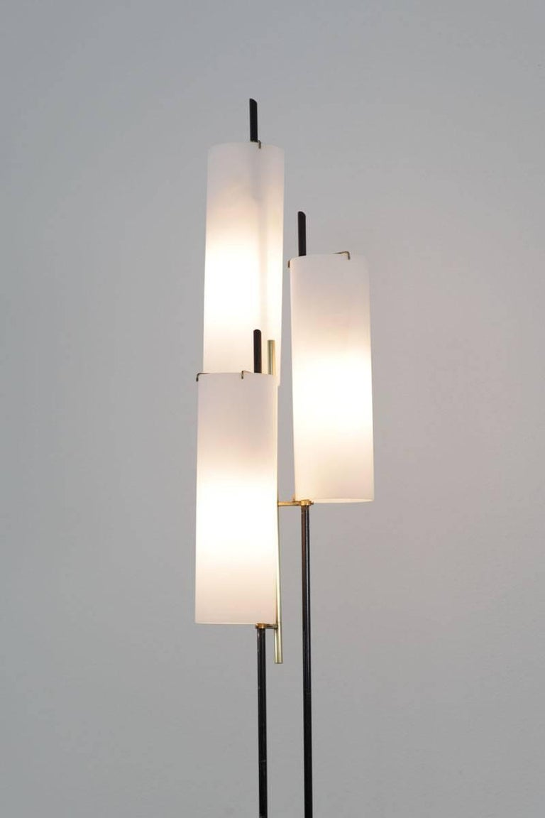 Mid-Century Modern Italian Floor Lamp by Stilnovo, 1950s For Sale