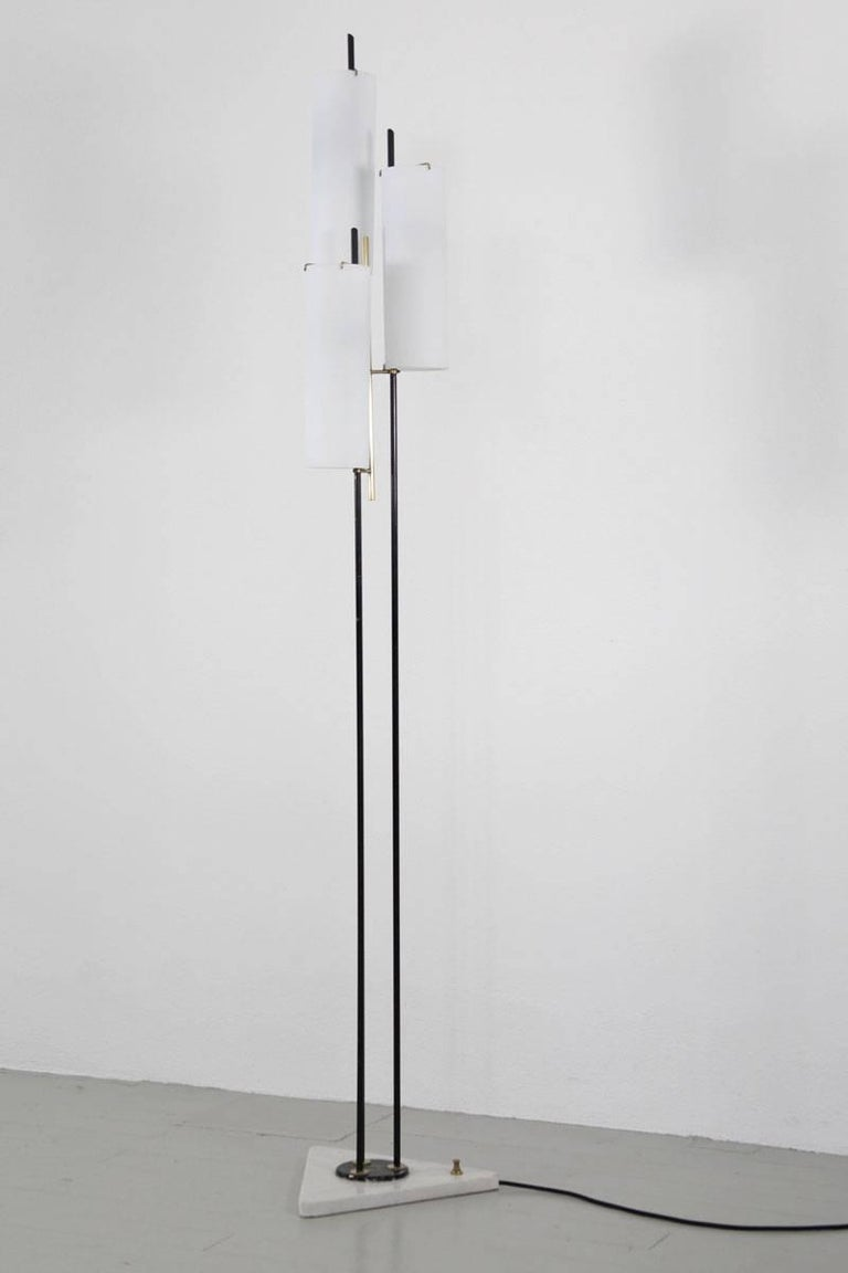 Mid-20th Century Italian Floor Lamp by Stilnovo, 1950s For Sale