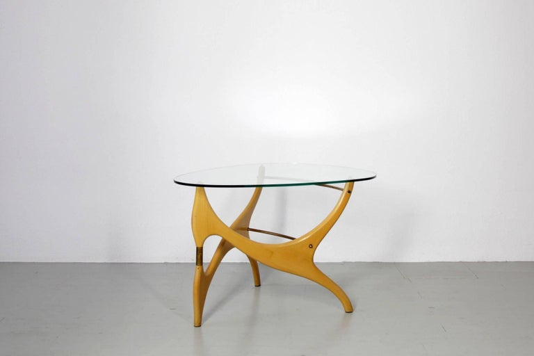 Mid-Century Modern Coffee Table in the Style of Carlo Mollino For Sale