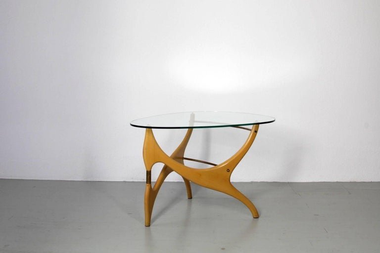 Coffee Table in the Style of Carlo Mollino For Sale 3