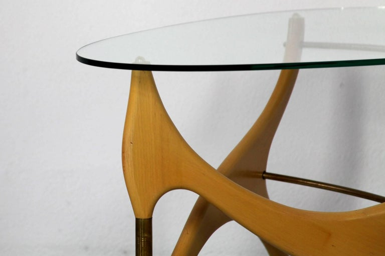 Mid-20th Century Coffee Table in the Style of Carlo Mollino For Sale