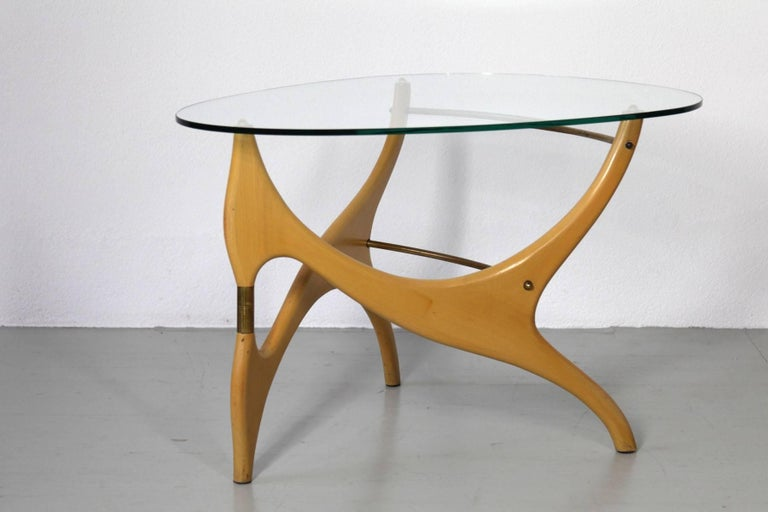 Italian Coffee Table in the Style of Carlo Mollino For Sale