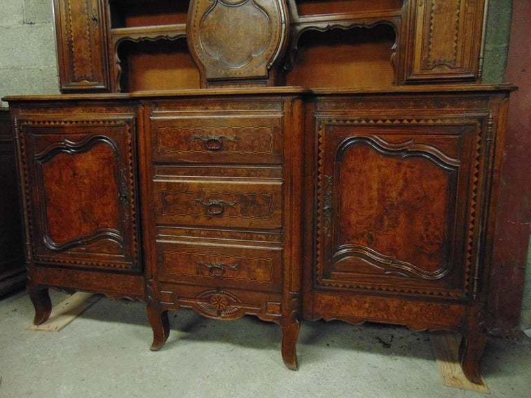 Rare French Farmhouse Buffet With Clock In The Louis Xv Style Circa 1770