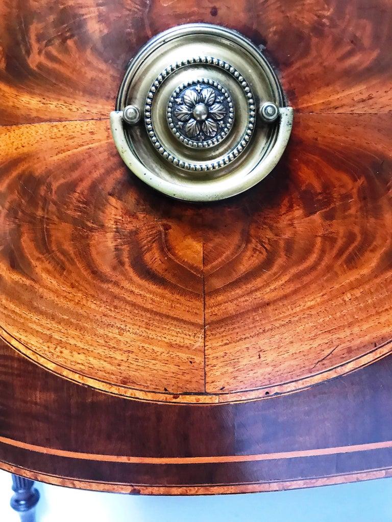 18th Century George III Mahogany Inlaid Serpentine Front Sideboard 4