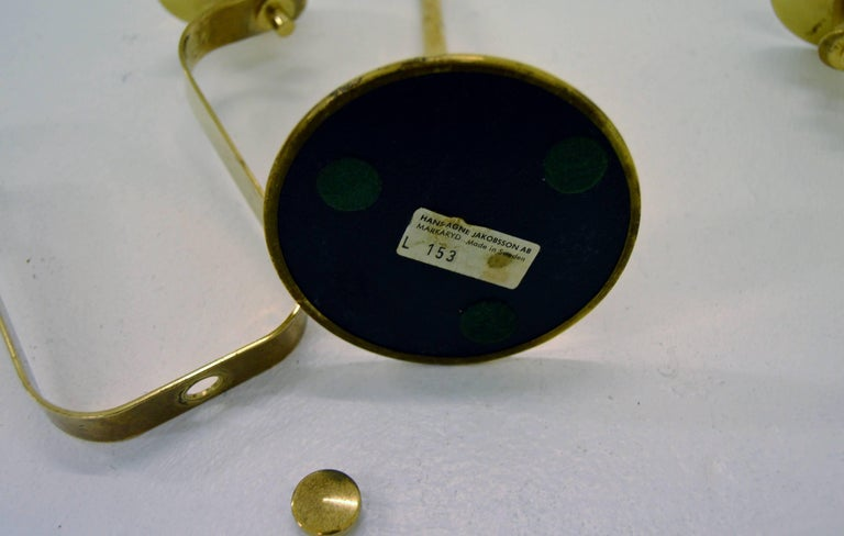 Hans-Agne Jakobsson Brass Candelabra For Sale 2