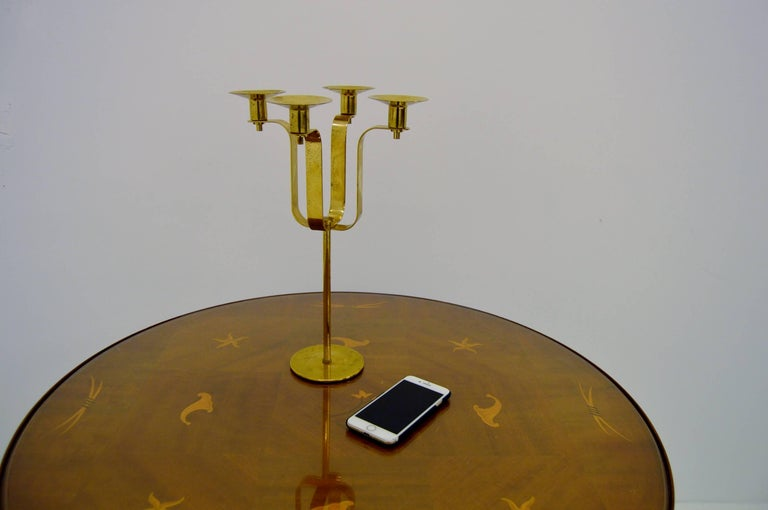 Scandinavian Modern Hans-Agne Jakobsson Brass Candelabra For Sale