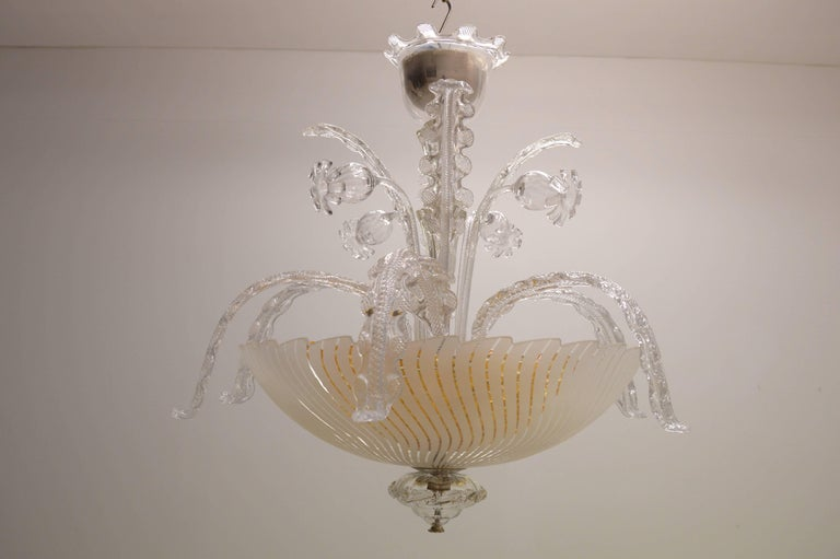 Orrefors 1940s venetian style chandelier by carl fagerlund for sale scandinavian modern orrefors 1940s venetian style chandelier by carl fagerlund for sale aloadofball Image collections