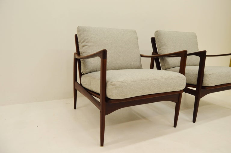 Pair Kandiaten Easy Chairs by Ib Kofod Larsen In Good Condition For Sale In Alvesta, SE
