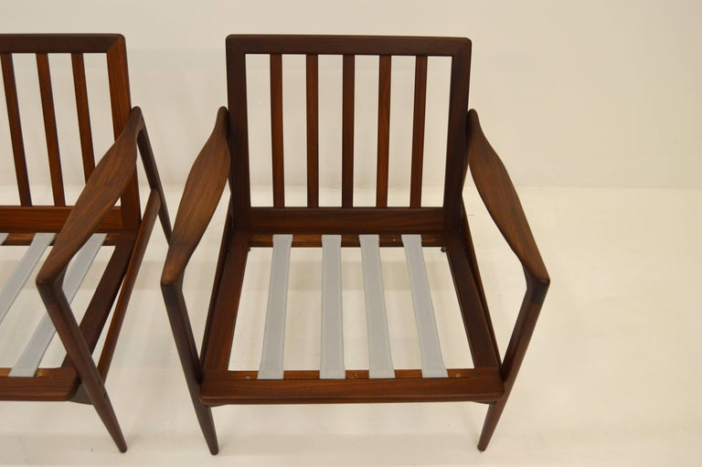 Pair Kandiaten Easy Chairs by Ib Kofod Larsen For Sale 2