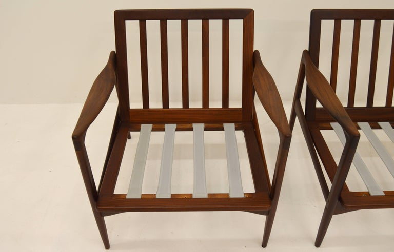 Pair Kandiaten Easy Chairs by Ib Kofod Larsen For Sale 3