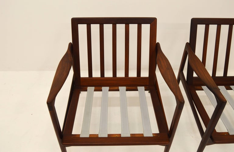 Pair Kandiaten Easy Chairs by Ib Kofod Larsen For Sale 1