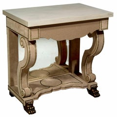 Maximus Bedside Table with Limestone Top