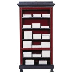 Gaius Velvet Covered Open Bookcase