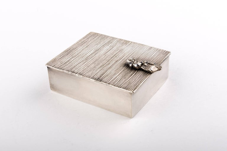 French Line Vautrin 'La Balayeuse Du Sacré Coeur' Silvered Bronze Box For Sale