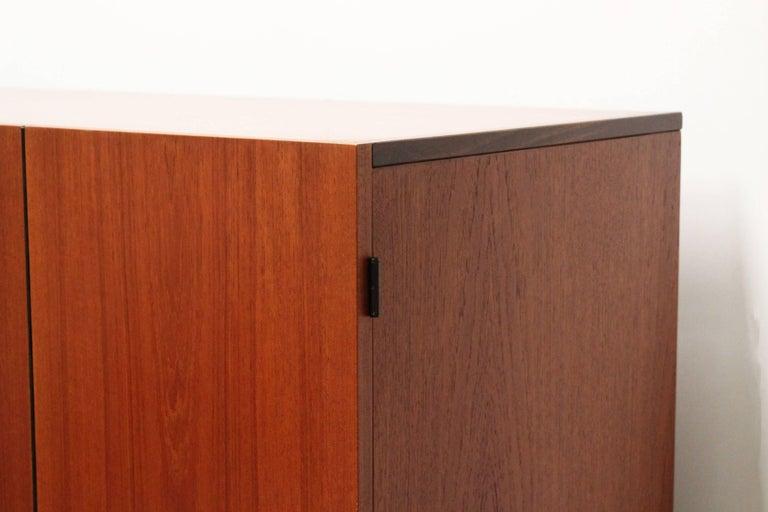 Mid-Century Modern KU16 Japanese Series Wardrobe or Cabinet by Cees Braakman for Pastoe Teak Black For Sale