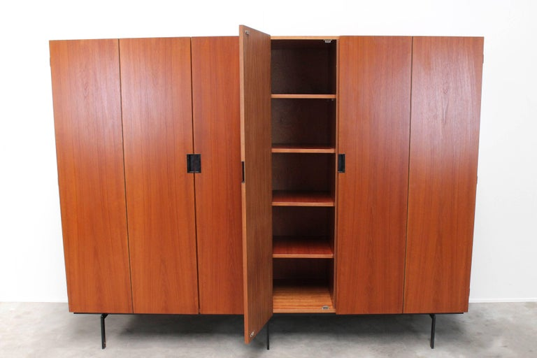 KU16 Japanese Series Wardrobe or Cabinet by Cees Braakman for Pastoe Teak Black For Sale 1