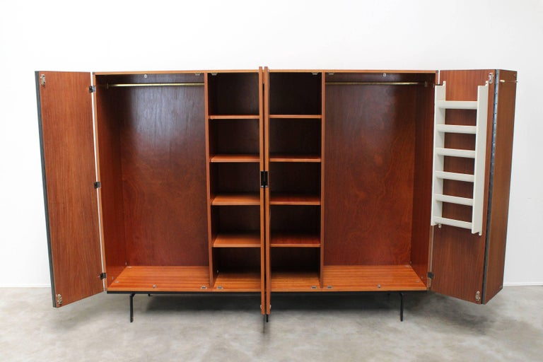 KU16 Japanese Series Wardrobe or Cabinet by Cees Braakman for Pastoe Teak Black For Sale 2