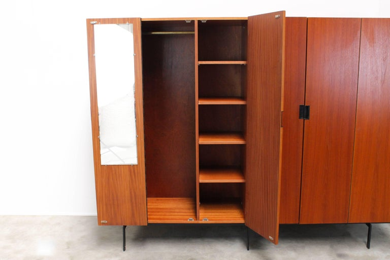 KU16 Japanese Series Wardrobe or Cabinet by Cees Braakman for Pastoe Teak Black For Sale 3