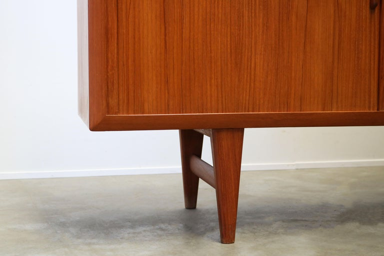 Rare Danish Sideboard / Credenza by Ib Kofod Larsen for Faarup Teak 1950s Brown For Sale 3