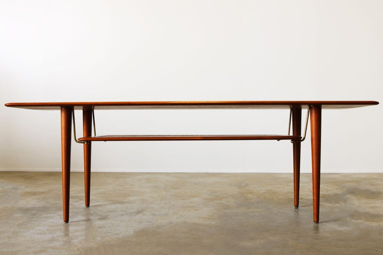 Mid-Century Modern Peter Hvidt & Orla Mølgaard Nielsen Coffee Table FD 516 Teak France & Son 1956 For Sale