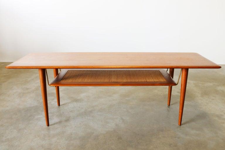Danish Peter Hvidt & Orla Mølgaard Nielsen Coffee Table FD 516 Teak France & Son 1956 For Sale