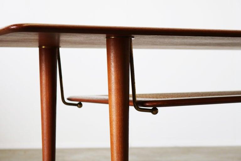 Mid-20th Century Peter Hvidt & Orla Mølgaard Nielsen Coffee Table FD 516 Teak France & Son 1956 For Sale