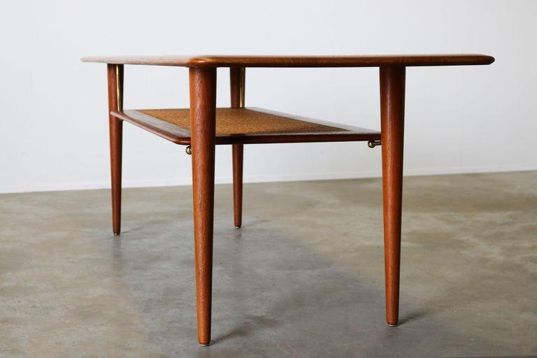 Peter Hvidt & Orla Mølgaard Nielsen Coffee Table FD 516 Teak France & Son 1956 For Sale 4