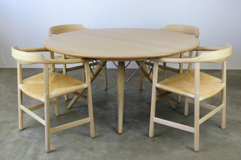 Danish Dining Set by Hans J Wegner for PP Mobler Model PP75 and PP205 Oak 1980s For Sale 3