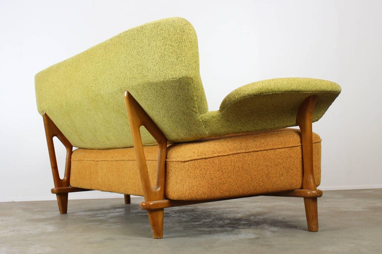 Dutch Rare Living Room Set / Sofa and Lounge Chair F109, Theo Ruth for Artifort, 1950 For Sale