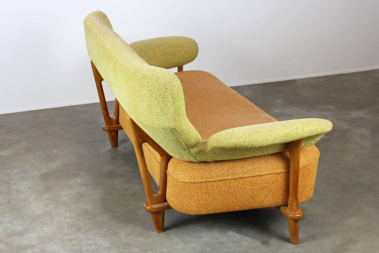 Mid-20th Century Rare Living Room Set / Sofa and Lounge Chair F109, Theo Ruth for Artifort, 1950 For Sale