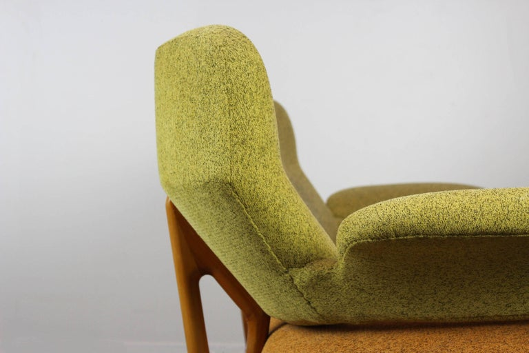 Fabric Rare Living Room Set / Sofa and Lounge Chair F109, Theo Ruth for Artifort, 1950 For Sale