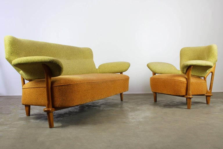 Rare Living Room Set Sofa And Lounge Chair F109 Theo
