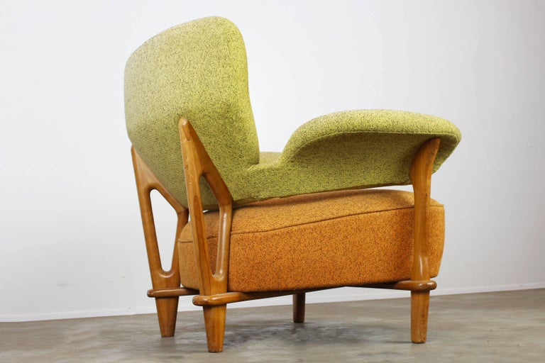 Rare Living Room Set / Sofa and Lounge Chair F109, Theo Ruth for Artifort, 1950 For Sale 2