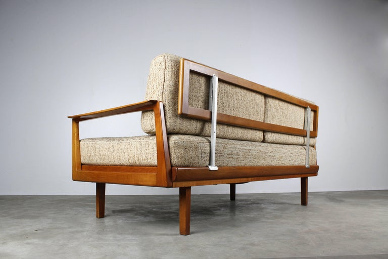 German Full Original Knoll Antimott Set 1950 with Easy Chairs and Daybed Beige Brown For Sale