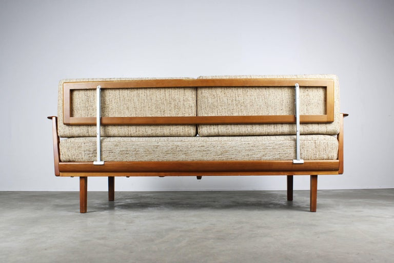 Mid-20th Century Full Original Knoll Antimott Set 1950 with Easy Chairs and Daybed Beige Brown For Sale
