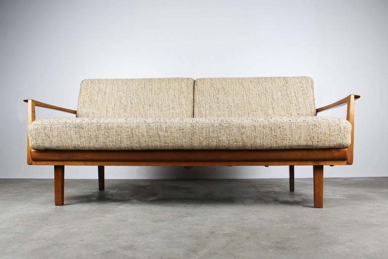Full Original Knoll Antimott Set 1950 with Easy Chairs and Daybed Beige Brown For Sale 1