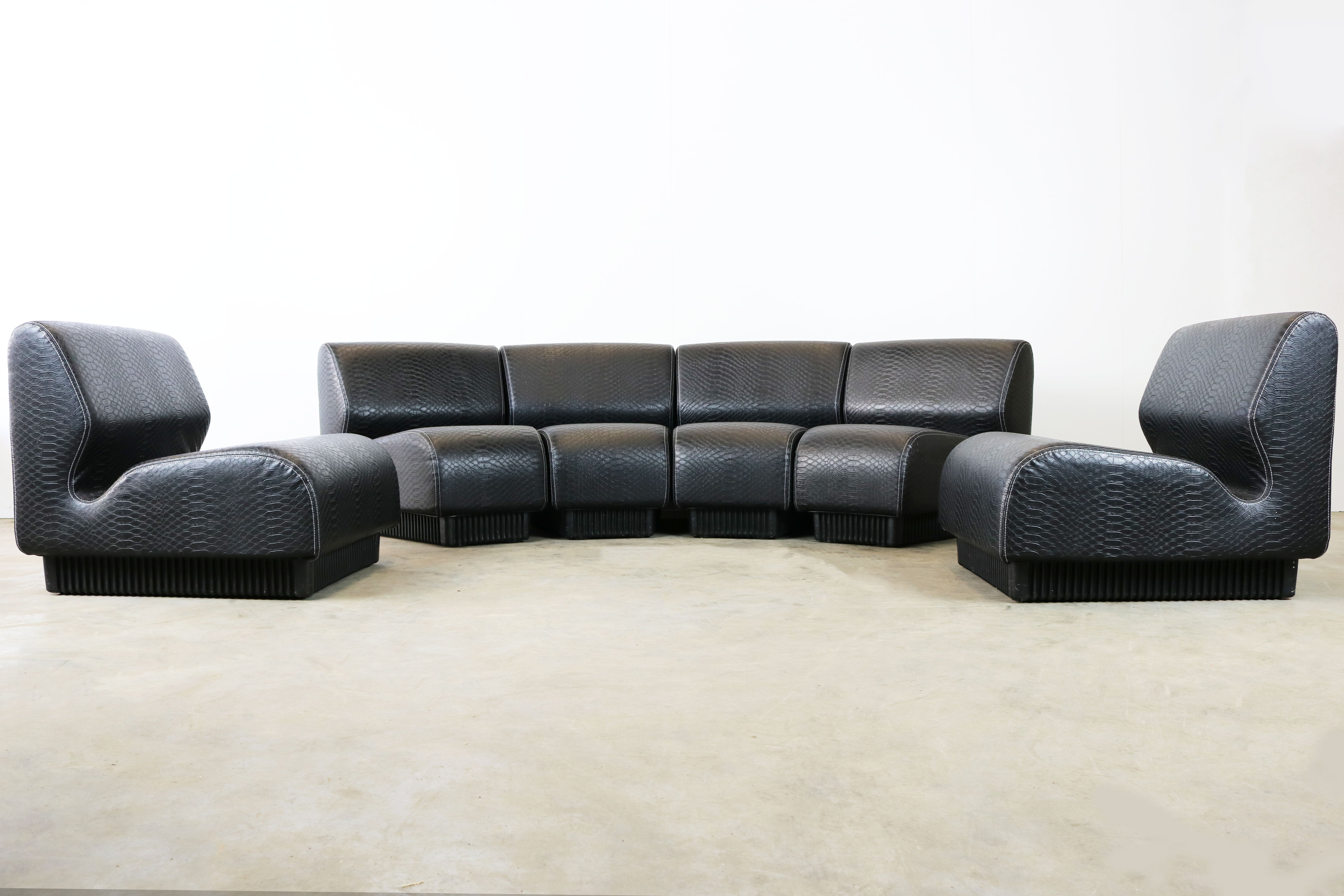 Excellent Midcentury Modular Sofa By Don Chadwick For Herman Miller 1970 Black Snakeskin Gmtry Best Dining Table And Chair Ideas Images Gmtryco