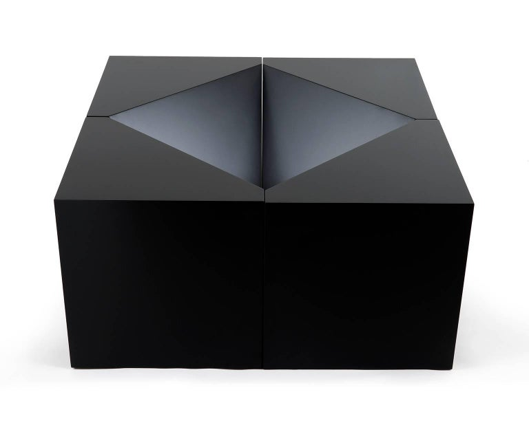 The Module is a sculptural side table, stool or cocktail table that can be used alone or in multiple groupings for greater visual impact and increased surface area. The modules are expertly crafted by hand in Brooklyn out of maple and hand spray