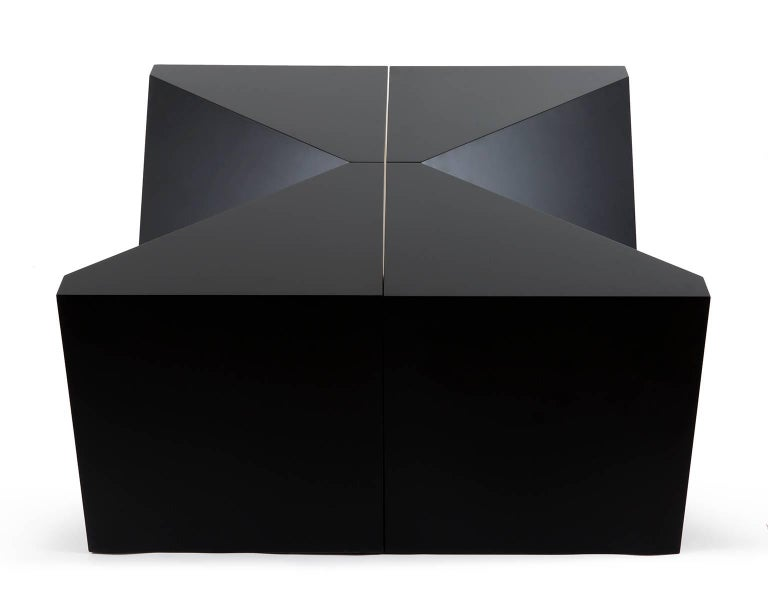 Contemporary Modular Side table / Cocktail table in Painted Maple by Alex P White For Sale