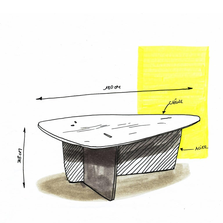 Aero, Coffee Table by Philippe Cramer for Le Point D, Contemporary Furniture For Sale 1