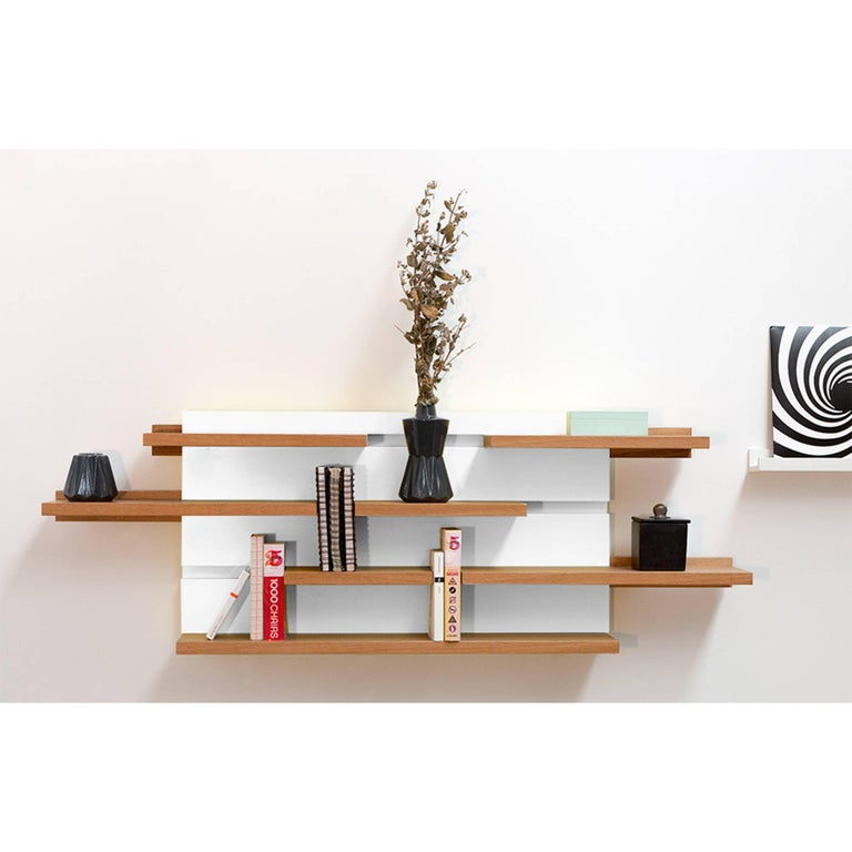 Sline, Sliding Shelves by Astrid Louchart / Le Point D, Contemporary Furniture For Sale 1