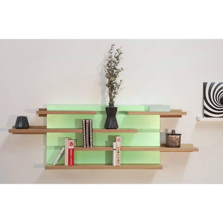 Sline, Sliding Shelves by Astrid Louchart / Le Point D, Contemporary Furniture For Sale 3
