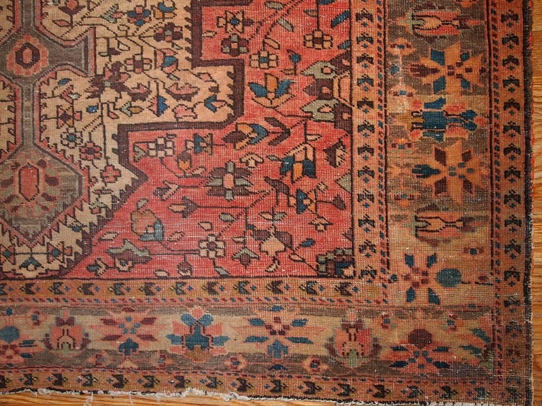 Handmade Antique Persian Farahan Oriental Rug 1900s For