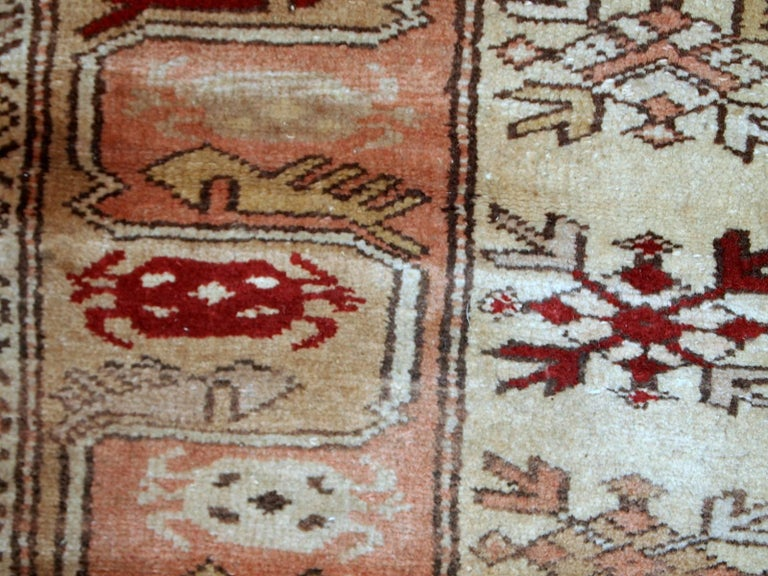 Handmade Vintage Turkish Oushak Runner, 1940s, 1C520 For Sale 2
