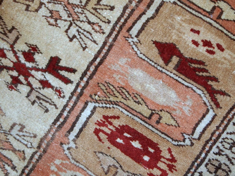 Handmade Vintage Turkish Oushak Runner, 1940s, 1C520 For Sale 3