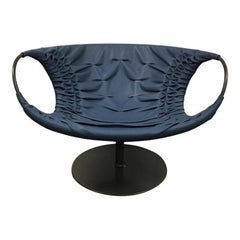 """Moroso """"Smock"""" Leather Swivel Chair Designed by Patricia Urquiola"""