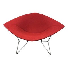 Harry Bertoia Large Red Diamond Chair for Knoll