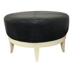 Hickory Chair Co. Auburn Leather Stool