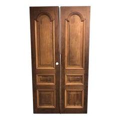 Pair of Country Mahogany Doors from La Casa Zaldivar, Pacheco in El Salvador