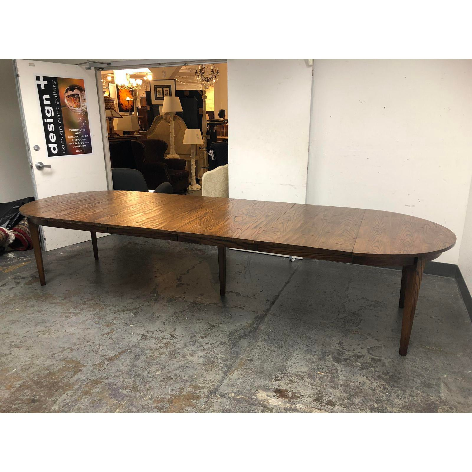 Yorkshire House Vermont Oak Dining Table And Four Leaves For Sale At 1stdibs